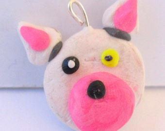 Clay Mangle FNAF Pendant Sculpture Charm Hand Sculpted Five Nights at Freddy Inspired Miniature Figurine