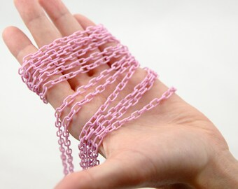 Plastic Chain - 7mm Delicate Plastic Lilac Chain - 55 inches or 140 cm - 2 pieces - NEW longer length