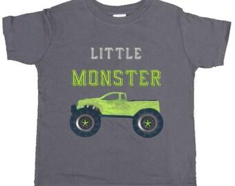 Funny Boy Shirt Monster Truck Tshirt Boy truck Bodysuit by Mumsy Goose