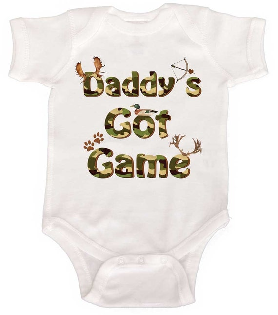 Funny Baby Boy Romper Baby Bodysuit Hunting Baby Bodysuit  Newborn Rompers to Toddler Tshirts