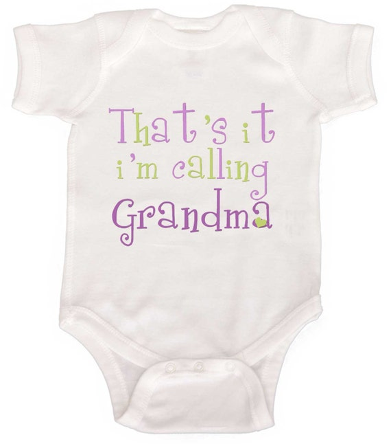 Funny Baby Girl One Piece  For new Grandmas and Grandpas Newborn Rompers to Kids Tees
