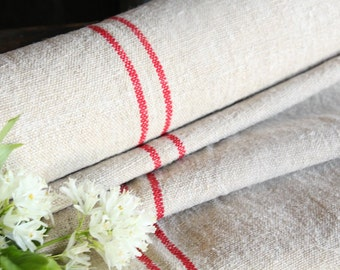 R 112 antique hemp linen roll 5.355yards BRIGHT RED fabric wedding curtain decor lin bedding 20.08wide