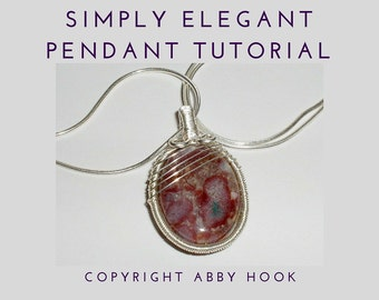 Simply Elegant Pendant, Wire Jewelry Tutorial, PDF File instant download with bonus chain tutorial