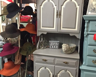 Grey and cream cabinet, sideboard or cupboard.