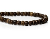 140 Natural brown coconut wood Beads 4mm  (PC204B)