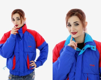 Windbreaker Ski Jacket Vintage 80s Puffy Coat 90s Winter Snowboard 1990s Revival Deadstock New W/ Tags Size Small S