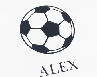 Soccer Ball Stationery Personalized Notes for Soccer Players Stationary for Athletes by Lime Green Rhinestones
