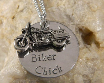 Biker Chick Motorcycle Necklace