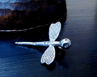 Sterling Silver Dragonfly Charm Silver Dragonfly Pendant Jewelry Supply
