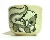Green Leaf Skunk Mug/Tea Cup