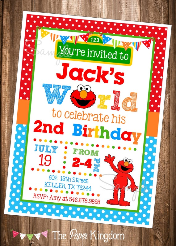 Elmo invitations printable elmo invitations elmo 39 s world for Elmo template for invitations