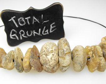 RIVER TUMBLED COPAL 00299c genuine Gambian handcrafted African young amber da grunge disc bead natural wild rugged exotic weathered nuggets