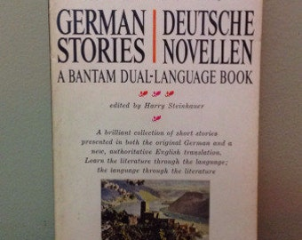 German Stories Deutsche Novellen by Harry Steinhauer Vintage Paperback Book