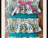BRIDAL GARTER - Crochet PATTERN- diy, make any size, easy pattern, wedding accessories, #1042-3