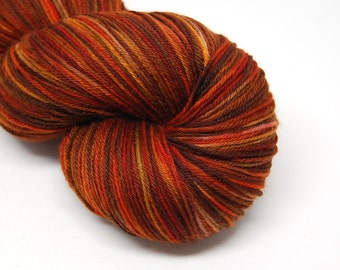 "Hardcore Sock Yarn - ""Fireside"" - Handpainted Superwash Merino - 463 Yards"