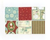 SALE Christmas Mini Note Cards (set of 6) CMN16 / Ready To Ship
