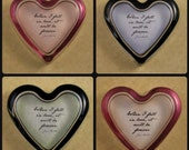 Jane Austen Fall In Love Quote Pastel Glass Heart Paperweight Wedding Anniversary Gift