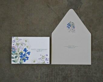 Anniversary Love Flat Printed Greeting Card