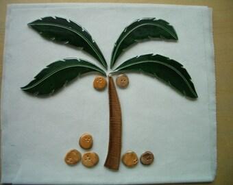 GEO - X-LARGE Multi-Glazed Palm Tree - Ceramic Mosaic Tile Set