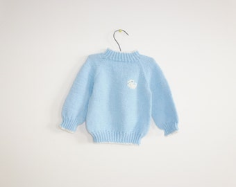 Vintage Blue Duck Baby Sweater