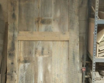 YOUR Made to order Custom Sliding Barn Door with 2 Panels FREE SHIPPING - SBD650D