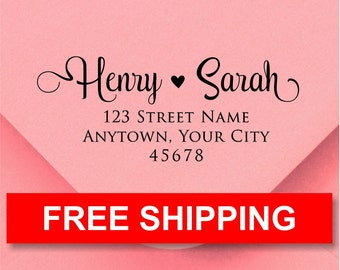 Address stamp self inking - Wedding Gift, Bridal Shower Gift, Realtor Gift, Housewarming Gift, Christmas gift R310N