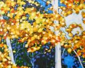 Signed  Print - Birch Trees by artist Christi Dreese