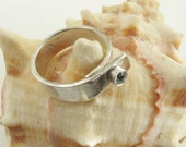 Pinky Ring: Topaz on Sterling Overlap Band