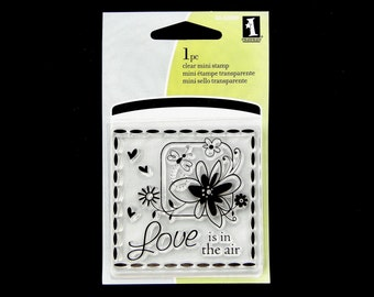 SALE Love Is In The Air Mini Clear Stamp
