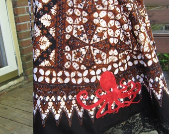 Octopus Batik Applique Skirt