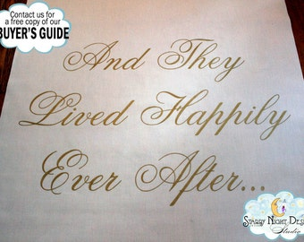 Aisle Runner, Wedding Aisle Runner, Custom Aisle Runner - Happily Ever After - Quality Fabric That Won't Rip or Tear