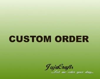 Handmade fabric flower appliques / embellishments (10 pcs)