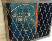 Vintage Industrial Green Wall Storage Basket