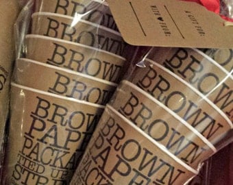 Kraft Paper Cones - Brown Paper Packages Tied up with Strings These are a Few of my Favorite Things Sentiment Cones Standard Size (16-count)