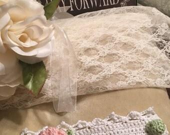 Isn't It Romantic Crochet Wrist Corsage Cuff Bracelet