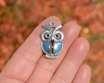 5  Silver Owl Charms SC2948