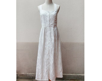 cotton embroidery lace maxi  shirt dress