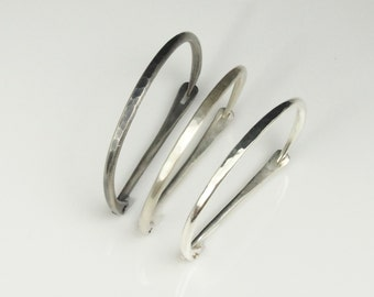 Made to Order: Hand-Forged Latch Bracelet in Recycled Argentium Silver
