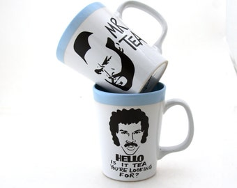 Ultimate Tea Lover's Set, Mr Tea and a friend together in green or blue, wedding gifts under 50,gift for tea drinker