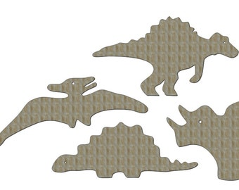 Unfinished Wood Dinosaur set largest dinosaur is 28 inch x 15 inch tall