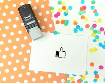 Tiny Thumbs Up Self Inking Teacher Stamp - Reward stamp - like stamp - grading stamp
