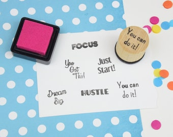 You Can Do It Motivational Stamp - Handmade