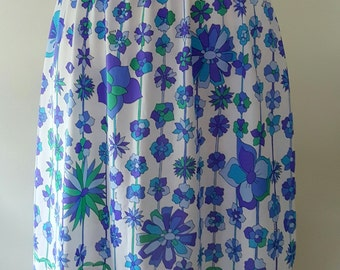 Vintage Emilio Pucci Half Slip / EPFR / Floral Slip /60s / 70s