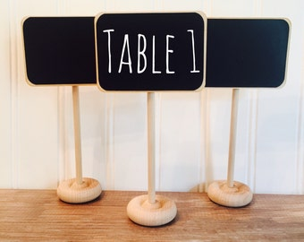 4 Mini Chalkboard Table Stands, Buffet Labels, Chalkboard Signs, Wedding Chalkboards, Chalkboard Label Stands, Chalkboard Food Labels