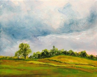 Landscape Painting, Original Painting, Oil Painting, Landscape, Wall Decor, Wall art, Countryside