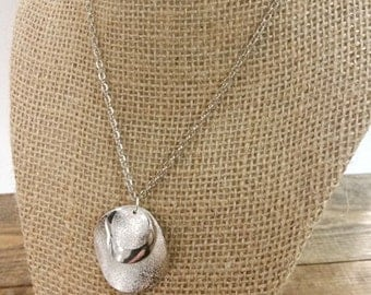 Layered Silver Disc Necklace