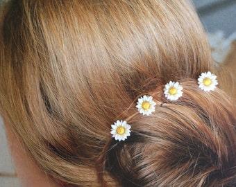 Summer Daisies Hair Swirls Twists Spins Spirals Coils Summer Wedding Hair Accessories Debs Twisties Hairswirls1