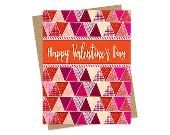 Folksy Valentine - Valentine's Day Card - Love Card - Valentine - OC1537