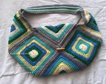 Sea Green Crochet Bag
