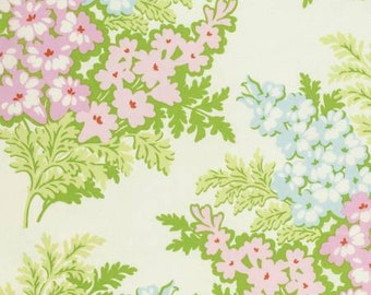 Heather Bailey Nicey Jane Picnic Bouquet in Cream 1  yard